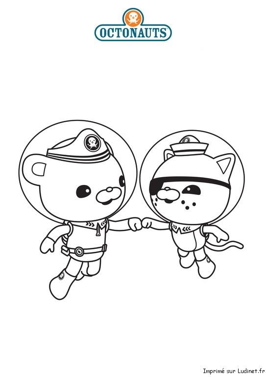 Capitaine barnacles et kwazii est un coloriage des octonauts - Octonauts dessin anime ...