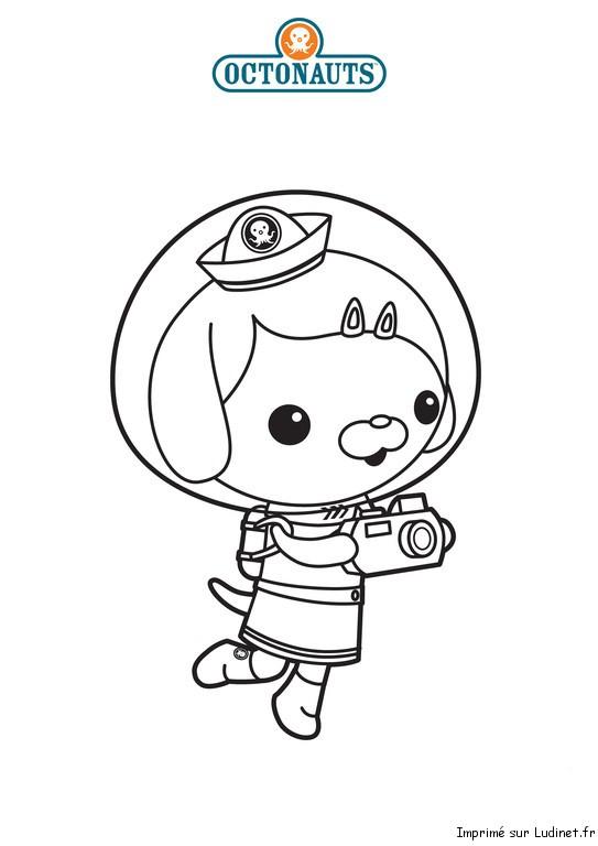 Cassie est un coloriage des octonauts - Octonauts dessin anime ...
