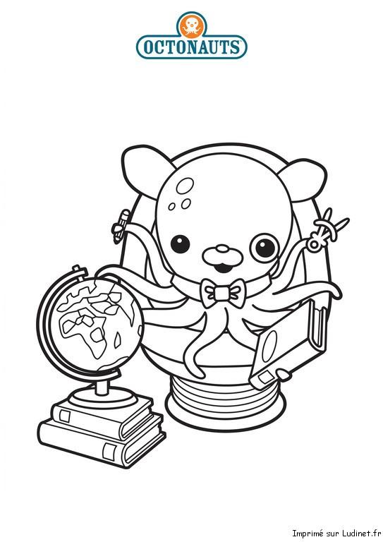 Professeur est un coloriage des octonauts - Octonauts dessin anime ...