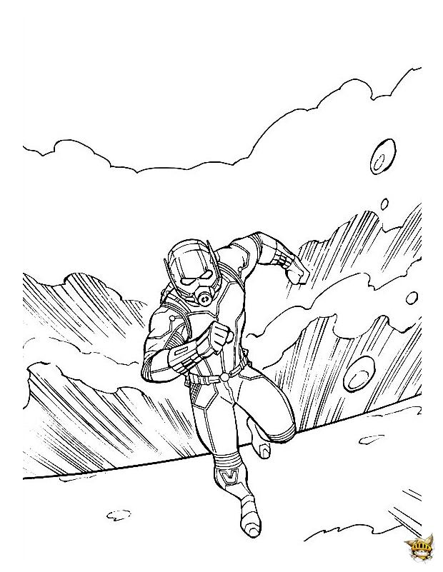 Ant-Man s'échappe est un coloriage de Ant-man