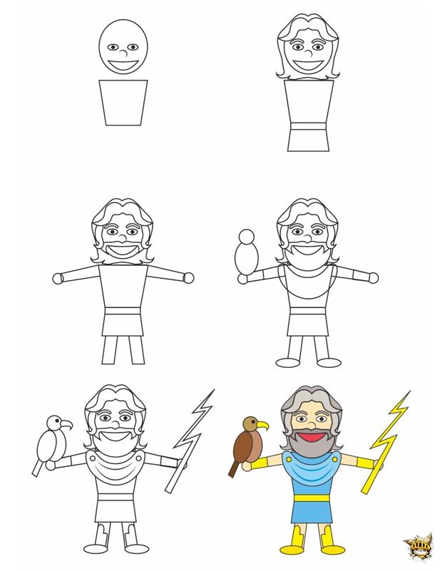 Dessine zeus est un tuto pour apprendre dessiner la - Apprendre a dessiner des maisons ...
