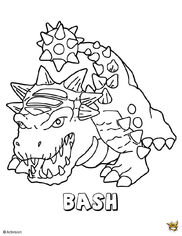 Bash est un coloriage de skylanders - Coloriages skylanders ...