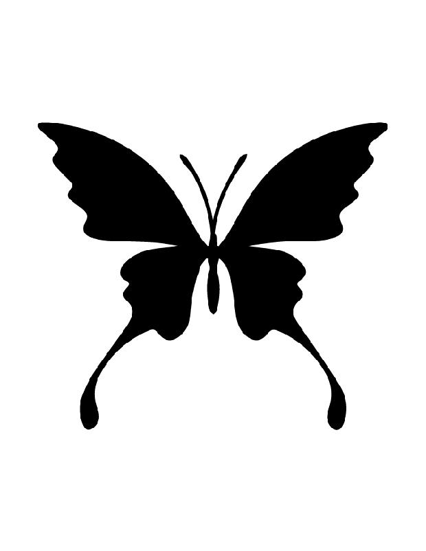 Silhouette papillon imprimer colorier les enfants - Silhouette papillon imprimer ...