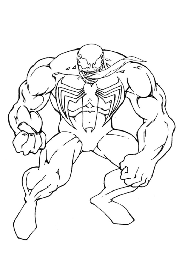 Big venom est un coloriage de spiderman - Coloriage spiderman a imprimer ...