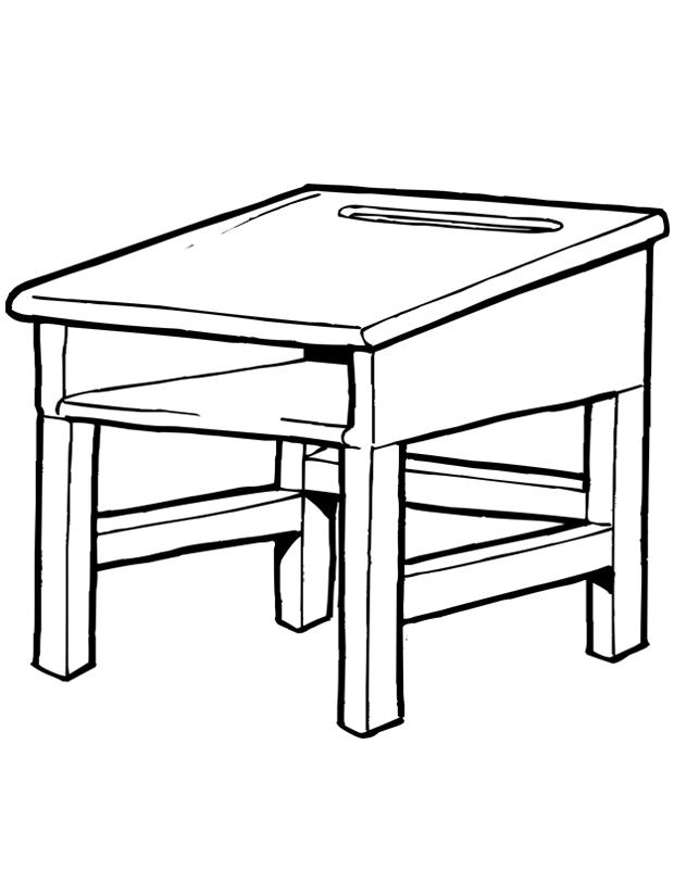 bureau d 39 cole est un coloriage d 39 cole imprimer. Black Bedroom Furniture Sets. Home Design Ideas