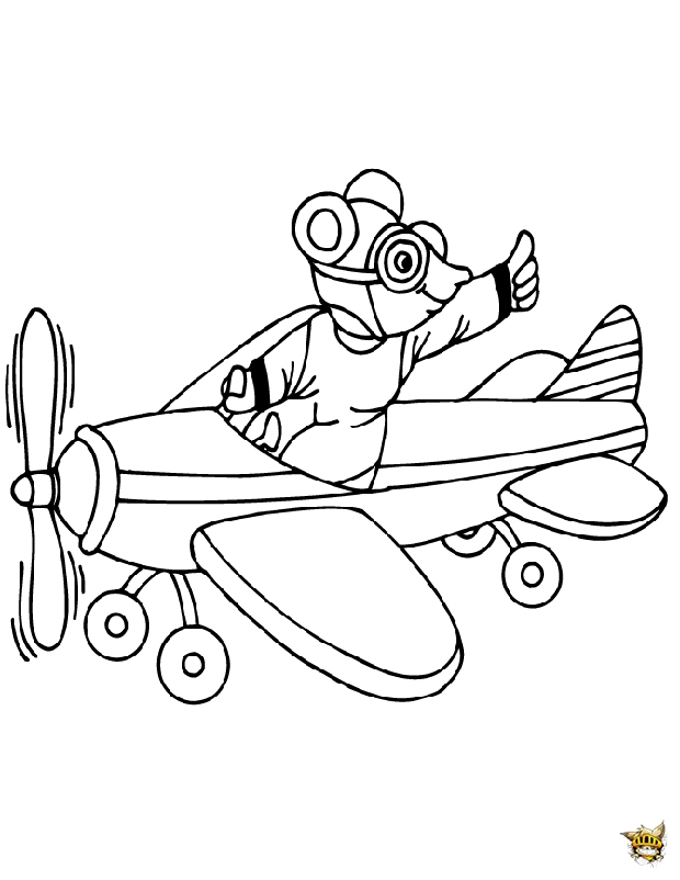 Avion de cartoon est un coloriage d 39 avion - Coloriage d avion ...