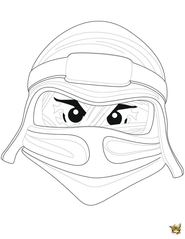 Coloriage casque ninjago sur - Ninjago dessin anime ...