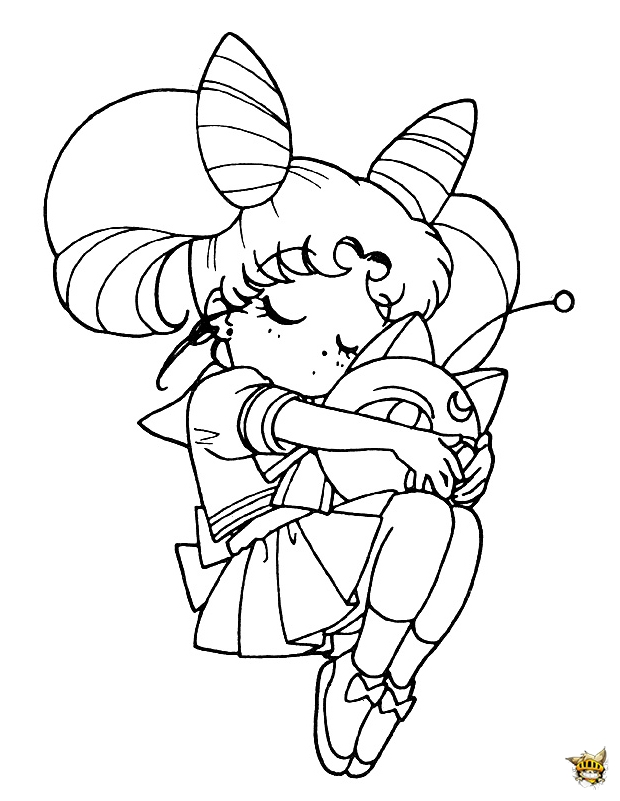 Chibi moon c lin est un coloriage de sailor moon - Dessin de calin ...