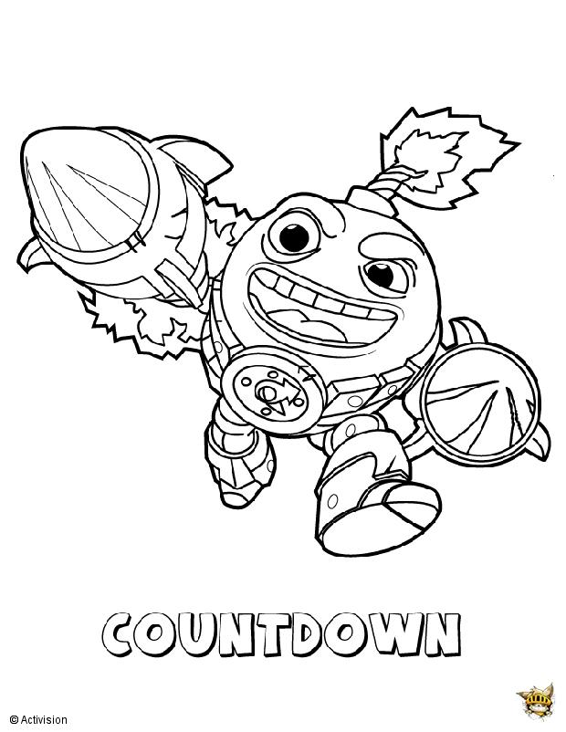Countdown folie est un coloriage de skylanders - Dessin de skylanders ...