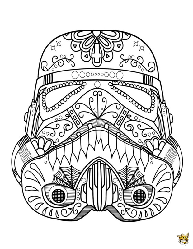Dark vador casque est un coloriage de star wars - Coloriage star wars 3 ...