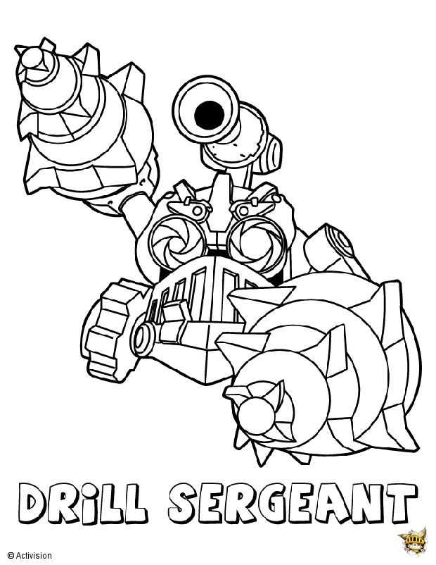 Drill sergent est un coloriage de skylanders - Dessin de skylanders ...