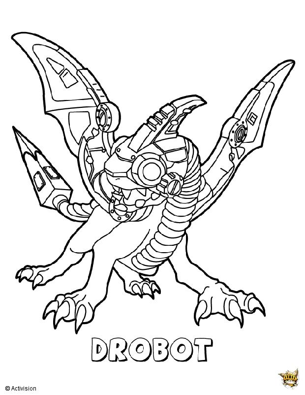 Drobot est un coloriage de skylanders - Coloriage skylanders giants ...