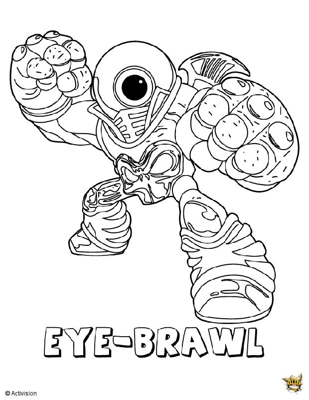 Eye baril est un coloriage de skylanders - Coloriage skylanders giants eye brawl ...