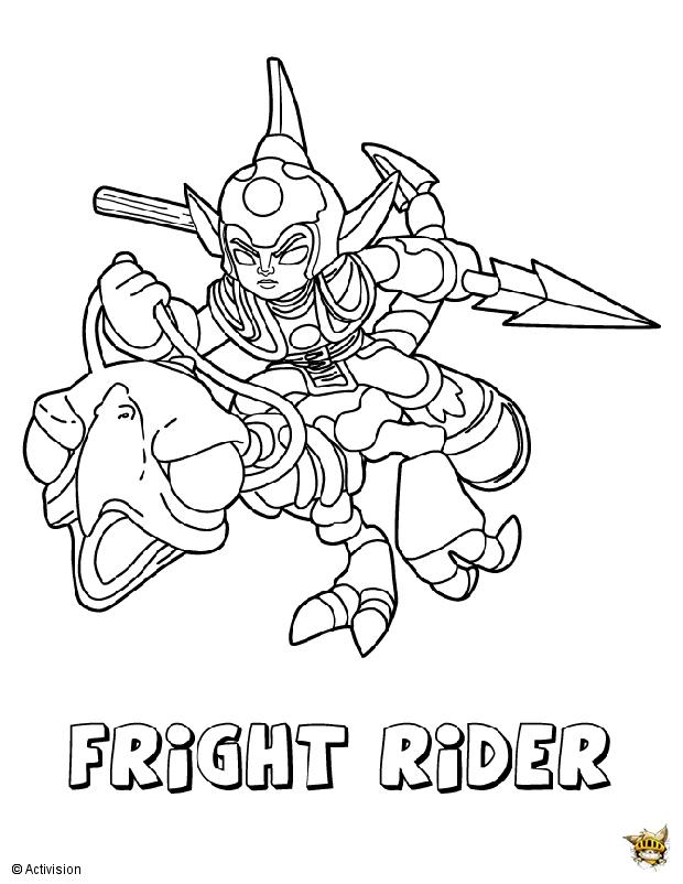 Fright rider est un coloriage de skylanders - Coloriages skylanders ...