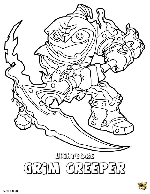Grim creeper est un coloriage de skylanders - Skylanders jeux gratuit ...