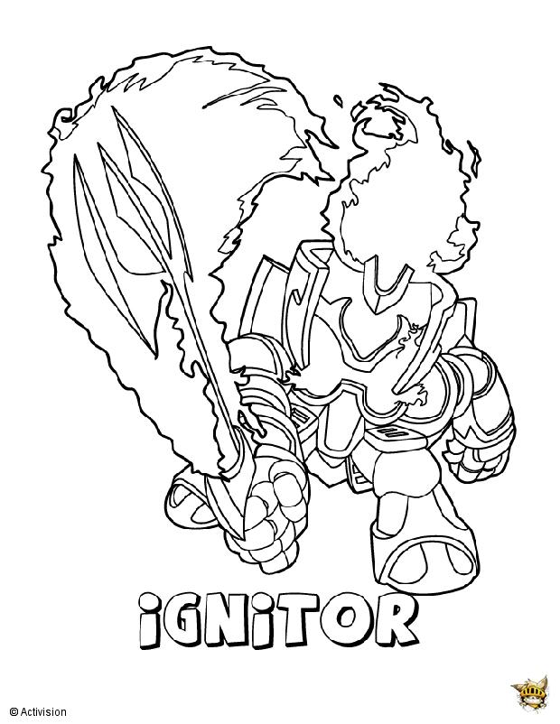 Ignitor attaque est un coloriage de skylanders - Dessin de skylanders ...