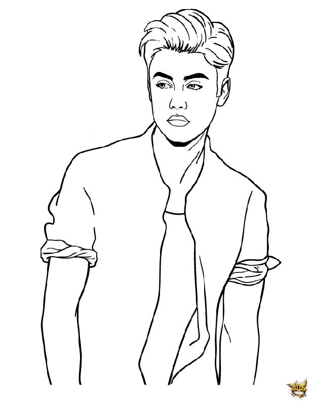 Justin look est un coloriage de justin bieber - Coloriage de justin bieber ...