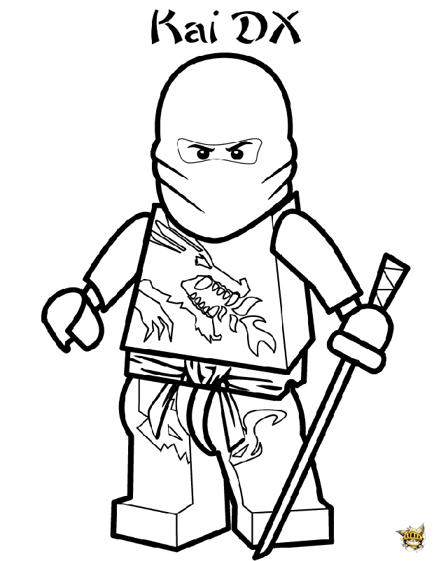 Kai dx est un coloriage de ninjago - Ninjago dessin anime ...
