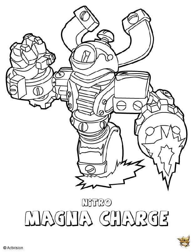 Magna charge est un coloriage de skylanders - Coloriage skylanders giants ...
