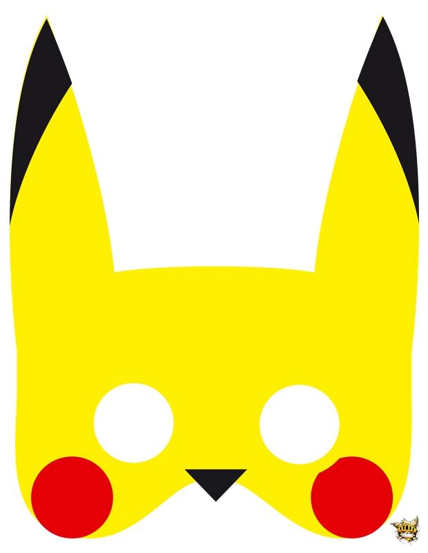 Masque pikachu est un d coupage de pok mon - Pikachu a imprimer ...
