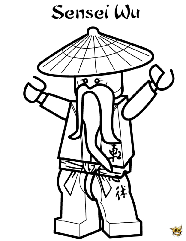 Sensei wu est un coloriage de ninjago - Dessin de lego ninjago ...
