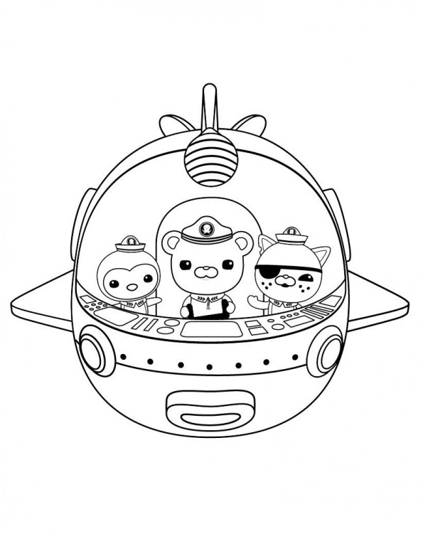 Gup X Coloring Page, Octonauts Gup Coloring Pages Gallery | Coloring ...