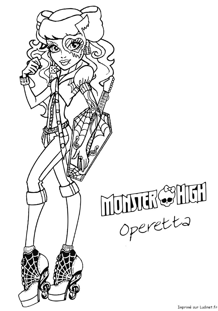 Operetta est un coloriage de monster high - Coloriage de monster ...