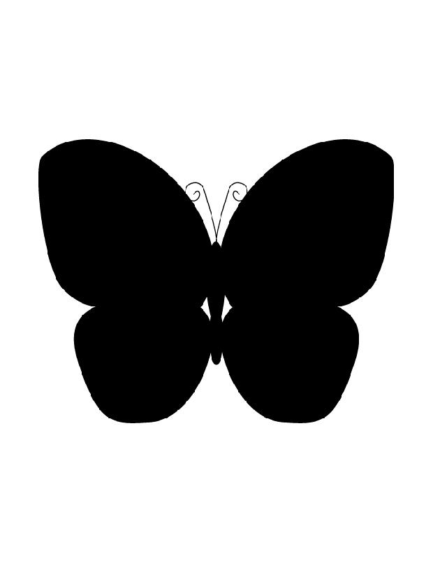 Papillon silhouette est une silhouette imprimer - Papillon imprimer ...