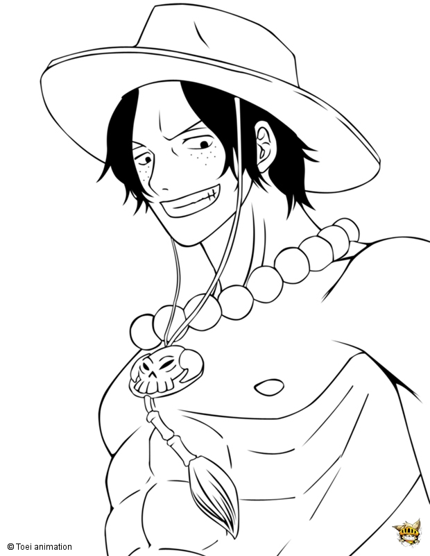 Portgas d ace est un coloriage de one piece - Coloriage one peace ...