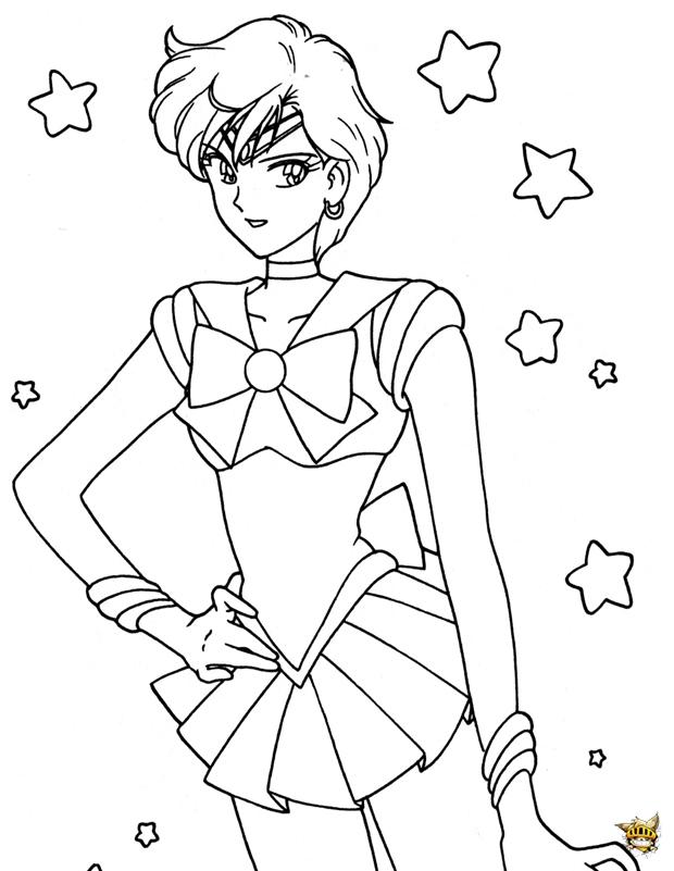 Sailor uranus toiles est un coloriage de sailor moon - Coloriage sailor moon ...