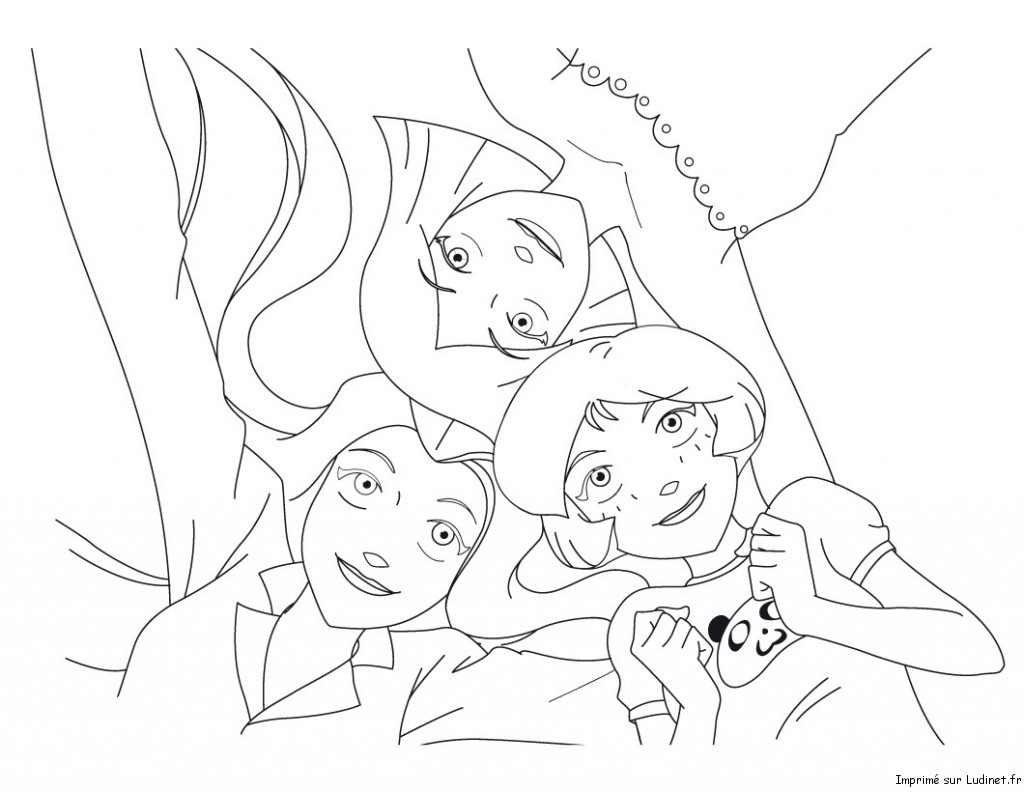 Sam alex et clover est un coloriage des totally spies - Totally spies coloriage ...