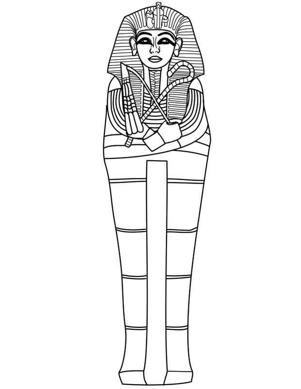 how to draw a pharaoh