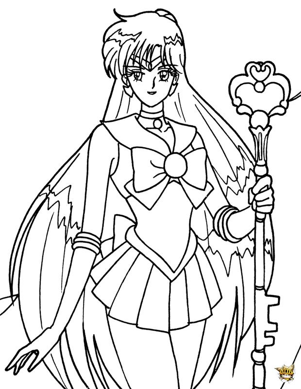 Sceptre Sailor Pluto est un coloriage de Sailor Moon