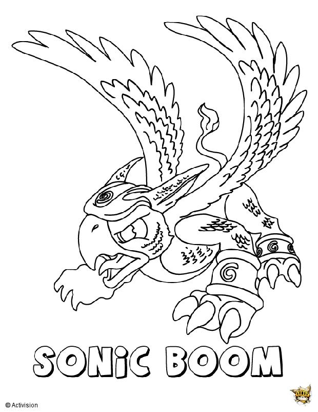 Sonic boom est un coloriage de skylanders - Coloriage sonic a imprimer ...
