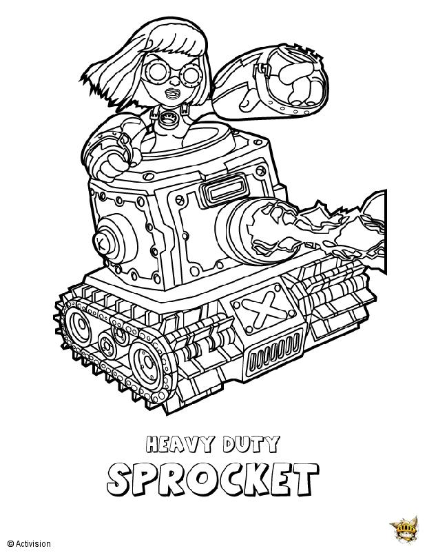 Sprocket est un coloriage de skylanders - Coloriages skylanders ...