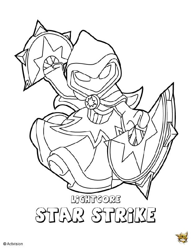 Star strike est un coloriage de skylanders - Dessin de skylanders ...