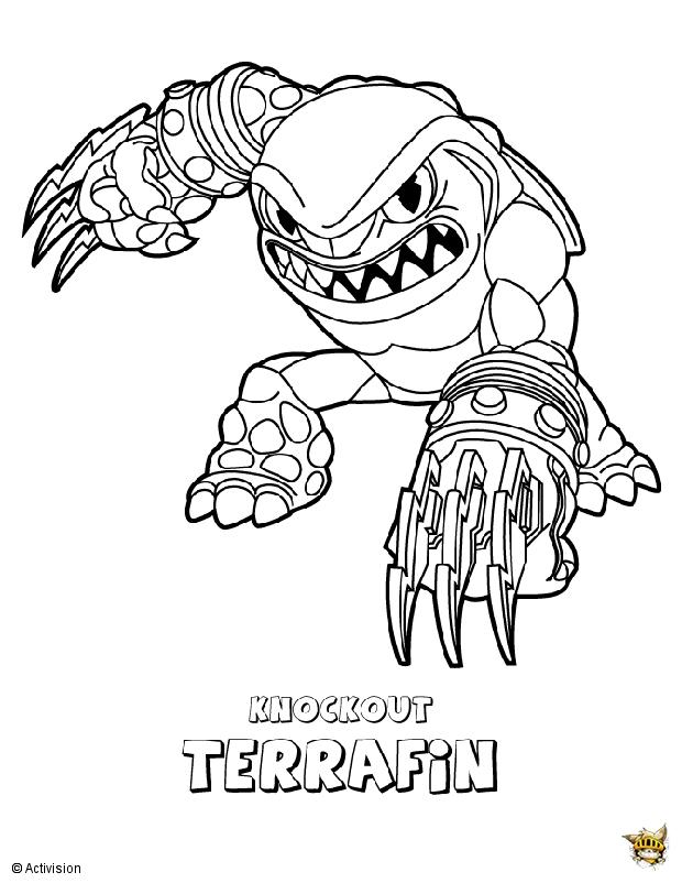 Terrafin est un coloriage de skylanders - Skylanders dessin ...