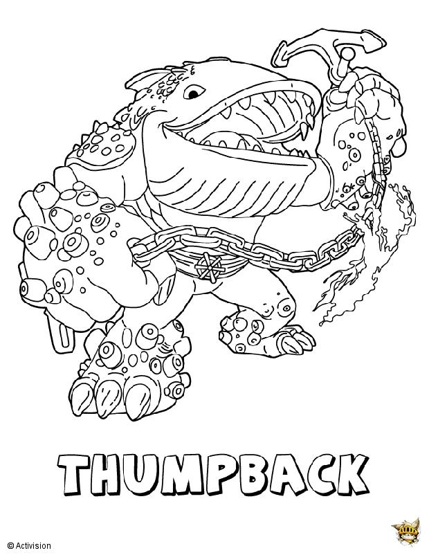 Thumpback est un coloriage de skylanders - Skylanders jeux gratuit ...