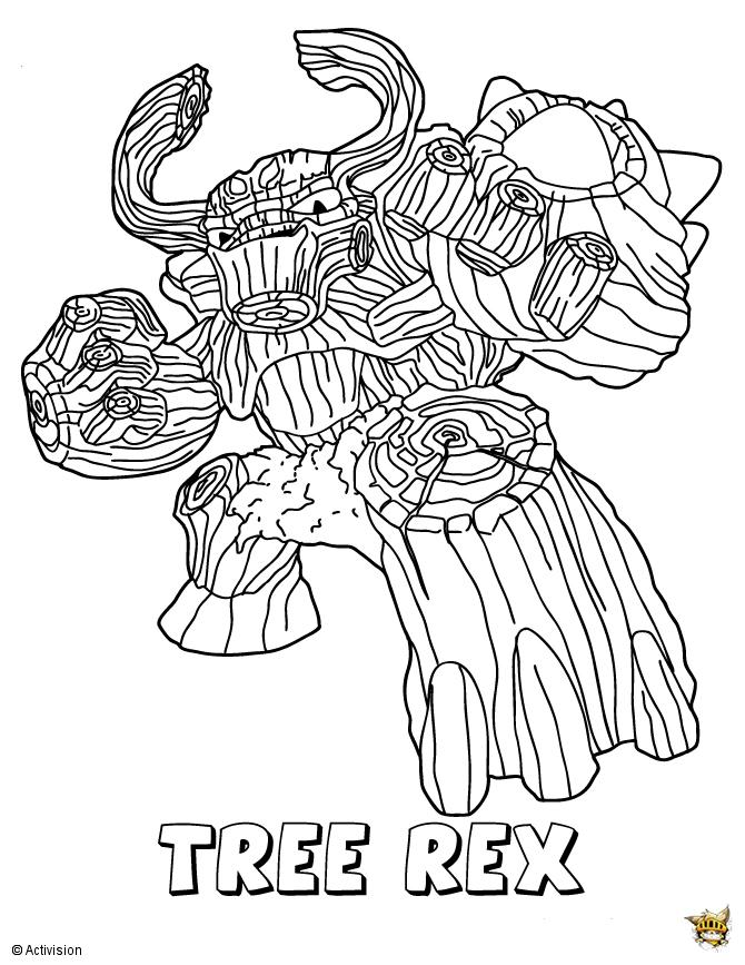 Tree rex est un coloriage de skylanders - Dessin de skylanders ...