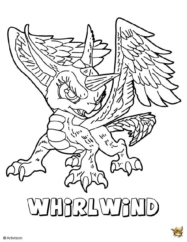 Whirlwind est un coloriage de skylanders - Dessin de skylanders ...