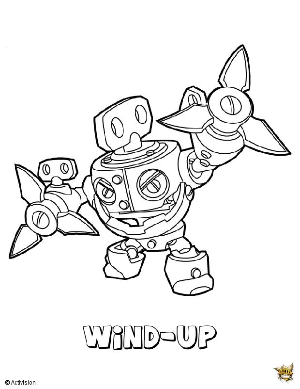 Wind up est un coloriage de skylanders - Coloriages skylanders ...