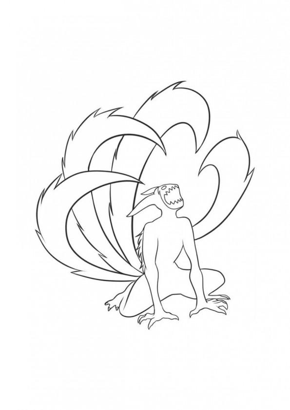 Kyubi - Dessin de naruto a colorier ...