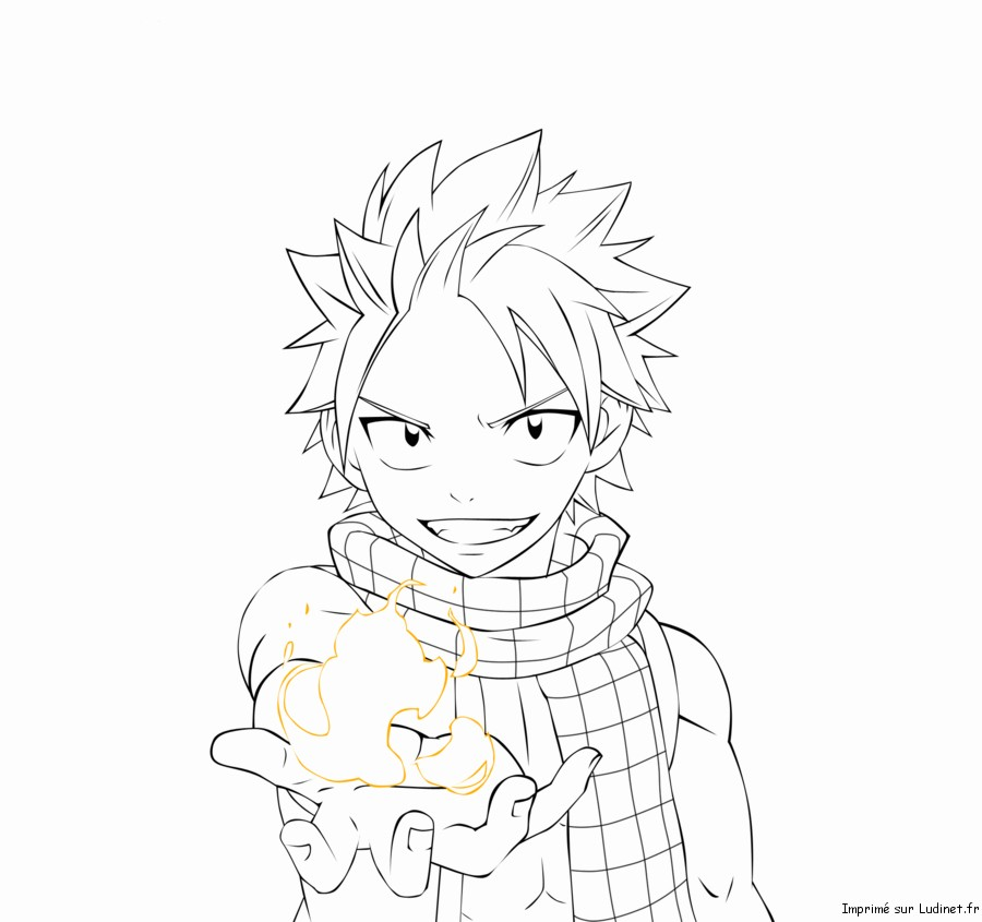 Amazing Fairy Tail Coloring Pages Anime Natsu Motif - Resume Ideas ...