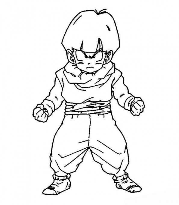 Coloriage Famille Vegeta.Sangohan Petit Est Un Coloriage De Dragon Ball Z