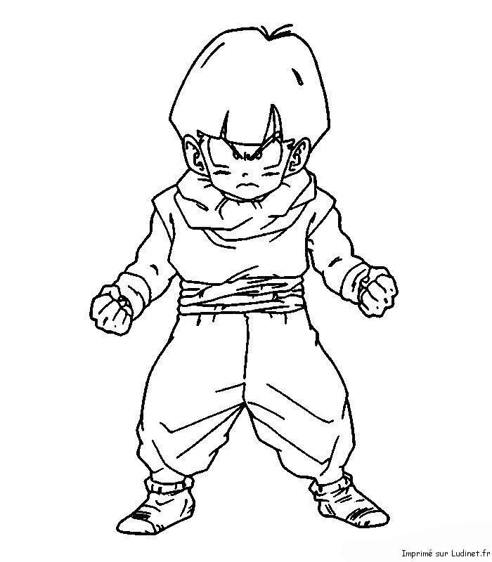 Sangohan petit est un coloriage de dragon ball z - Dessin de sangohan ...