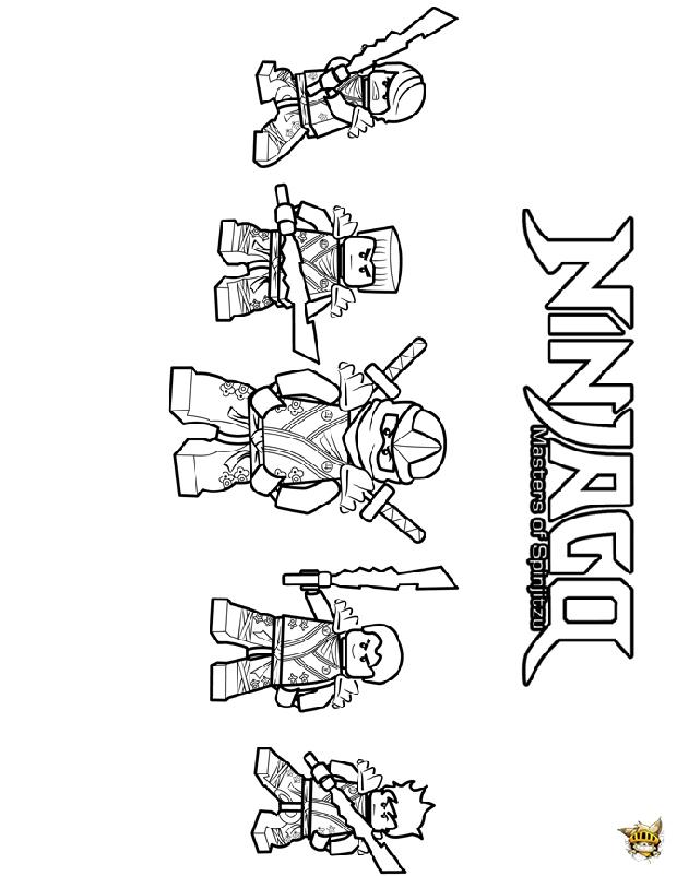 5 ninjago kimono est un coloriage de ninjago - Coloriages lego ninjago ...