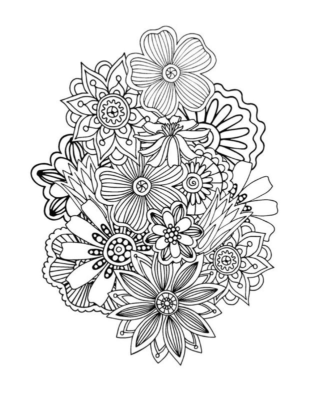 Coloriage Adulte A Imprimer Abstrait.Coloriage Abstrait Floral 1 Zen Pour Adultes