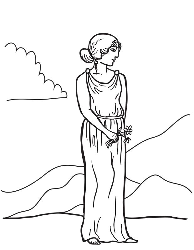 Aphrodite est un coloriage de mythologie