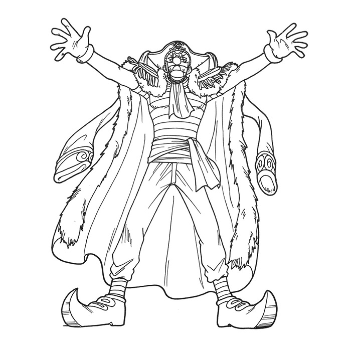 Baggy le clown est un coloriage de one piece - Coloriage one peace ...