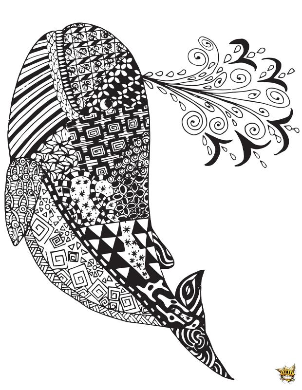 Baleine zentangle